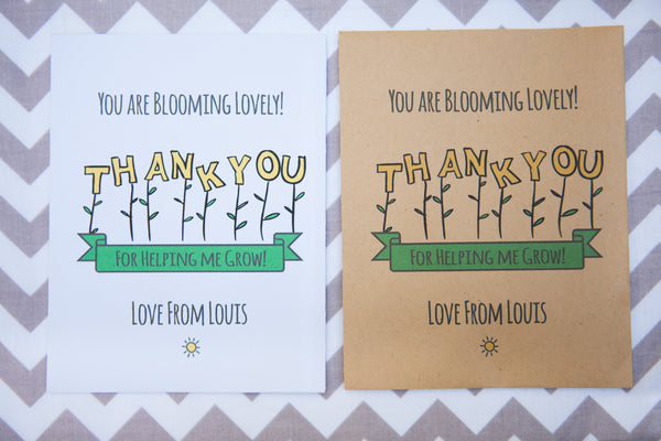 Blooming Lovely Thank You Sunflower Seed Packets
