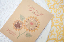 'Ray Of Sunshine' Seed Packet Baby Shower Favours