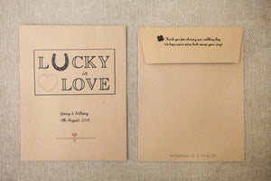 'Lucky in Love' Personalised Lottery Ticket Holder