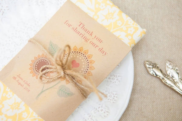 'Thank You for Sharing Our Day' Personalised Seed Packet Favour