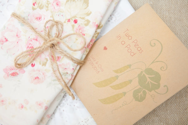 'Two Peas in a Pod' Personalised Seed Packet Favour