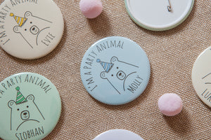 'Party Animal' Personalised Big Badge