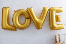 Giant Love Gold Foil Balloons
