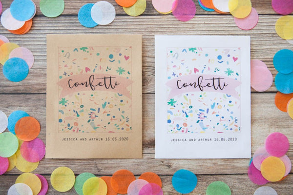 Personalised Colourful Confetti Print Packet