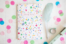 Colourful Confetti Print Bridal Party Notebook