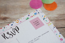 Colourful Confetti Wedding Stationery
