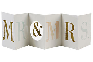 'Mr & Mrs' Glitter Banner Card
