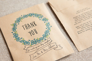 Thank You' Personalised Seed Packet Favour