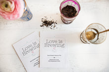 'Love is Brewing' Personalised Tea Packet Favour