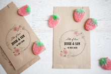 Floral Personalised Paper Goodie Bag