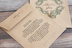 Mehndi 'Let Love Grow' Seed Packet Favour