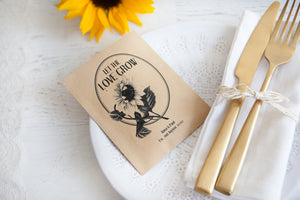 Art Deco Personalised Seed Packet Favour
