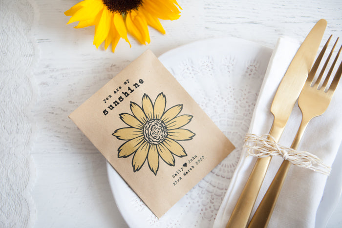 My Sunshine' Personalised Seed Packet Favour