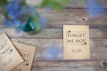 Forget Me Not' Personalised Seed Packet Favour