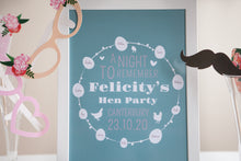 Personalised 'Night To Remember' Hen Party Print