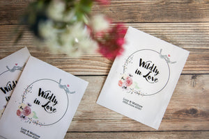 Wildly in Love' Personalised Seed Packet Favour