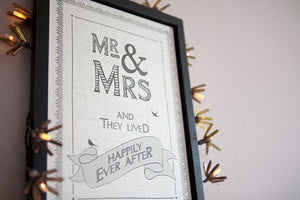 Happily Ever After' Framed Picture