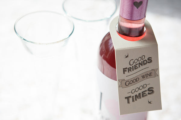 Set of 4 'Good Times' Bottle Gift Tags