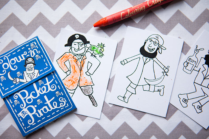 Colour-In Pocket Pirate Book