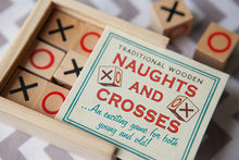 Wooden Box of Noughts & Crosses