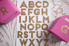 240 Dazzling Gold Alphabet Stickers