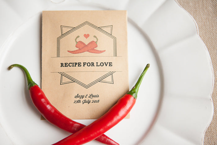 'Recipe for Love' Personalised Seed Packet Favour