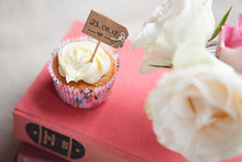 Set of 12 Kraft Luggage Tag Cupcake Sticks