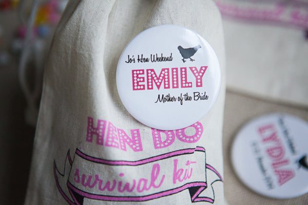 Personalised Hen Do Big Badge or Mirror