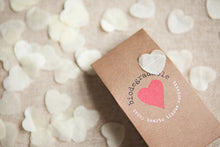 Biodegradable Heart Confetti in Brown Kraft Box