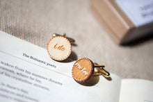 I do... me too'  Wooden Cufflinks