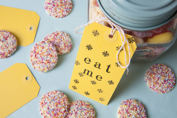 Set of 25 Sunshine Yellow Luggage Tags