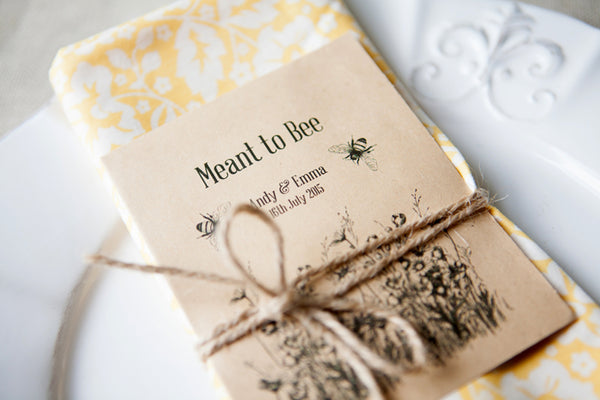 Meant to Bee' Personalised Seed Packet Favour
