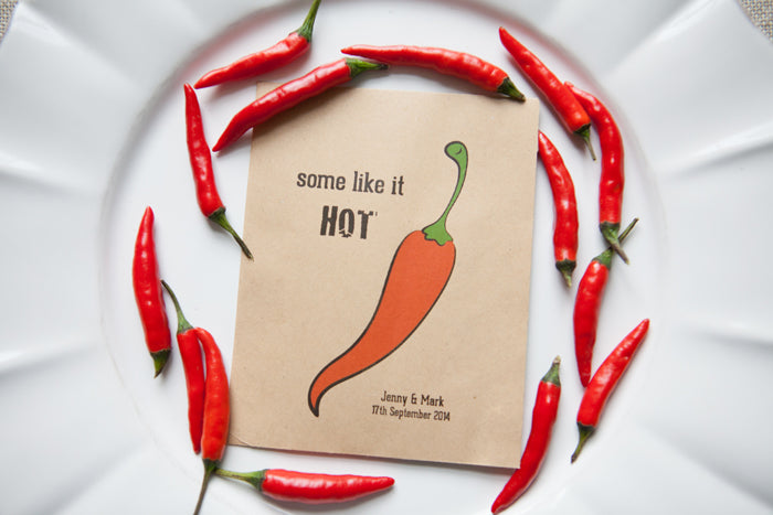 Some Like it Hot' Personalised Seed Packet Favour