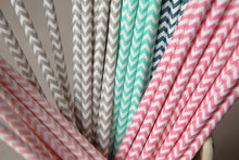 Set of 25 Bold Chevron Paper Straws