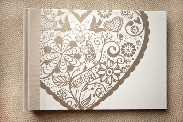 Lacy Love Heart Wedding Photo Album