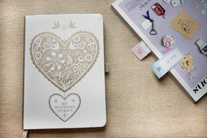 Lacy Love Heart Wedding To Do's Book