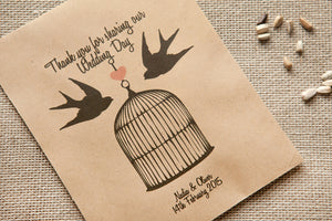 Love Birds Personalised Seed Packet Favour