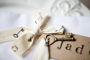 'Love is the Key' Cotton Ribbon