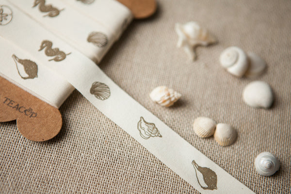 Seashells Cotton Ribbon