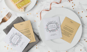 Love Is Blooming' Wedding Favour Seed Packet