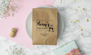 Personalised 'Cheers' Hen Party Paper Goodie Bag