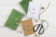 No Rain, No Flowers Single Personalised Lavender Seed Packet