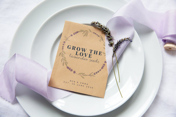 Grow The Love Lavender Seed Packet Favours