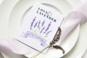 Love And Lavender Personalised Seed Packet Favours