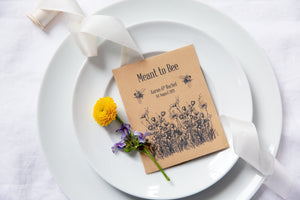 Meant to Bee Wildflower Seed Packet Favours