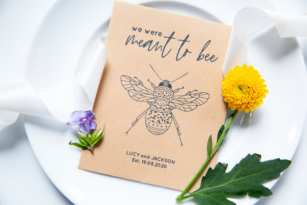 Floral Bee Wildflower Seed Wedding Favours