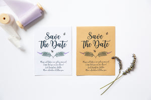 Save The Date Lavender Seed Packets