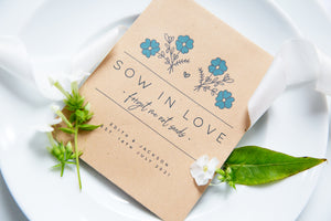Sow In Love Forget Me Not Seed Packet Favours