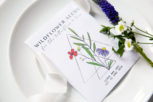 Geometric Wildflower Seed Packet Favours
