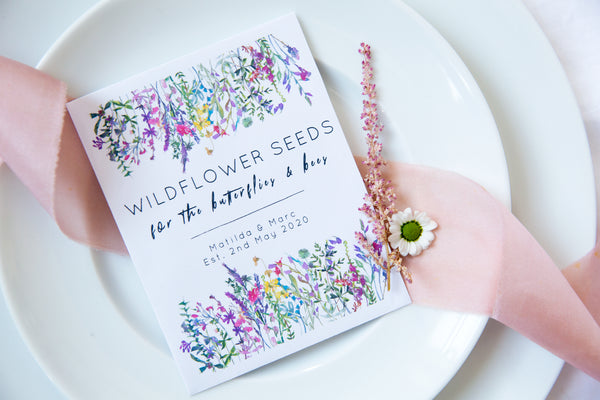 Wildflower Meadow Seed Packet Wedding Favours